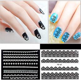 2019 3d spitze nagelaufkleber 30 Blätter Spitze 3D Nail Sticker Set Nylon Spitze Decals Maniküre Nail Art Dekorationen rabatt 3d spitze nagelaufkleber