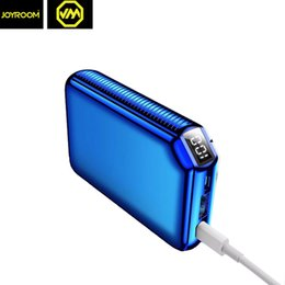 Wholesale Small Power Bank Chargers - JOYROOM 2018 Newest Real 9000mAh 5V 3.1A Mini Handable Powerbank Dual USB LED Display Power Bank Small Size Backup Charger Battery Powerbank