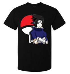 Alta obra de arte online-Naruto Sasuke Uchiha Anime Manga Artwork hombres (mujer disponible) camiseta negra Diferentes colores Alta calidad