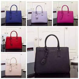 acf8bc33ebeb 2018 famous designer women handbags shoulder bags fashion brand designer  luxury handbags purses genuine leather OL lady handle saffiano bag  affordable coach ...