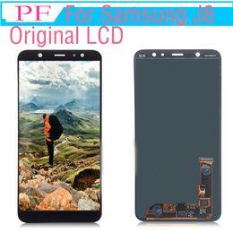 2019 digitalizador lcd lcd 5 peças oirignal lcd amouled para samsung galaxy j8 2018 j800 substituição do telefone lcd para j8 sm-j800fn display touch screen digitador assembléia digitalizador lcd lcd barato