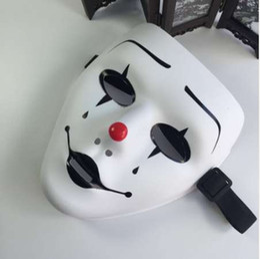 Страшно Маска анфас крышка Хэллоуин Маскарад маска белый цвет хип-хоп косплей Delicated Jabbawockeez пластиковые ПВХ маска от