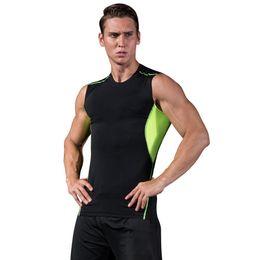 2018 Summer Running Vest Uomo Camicia a compressione senza maniche Traspirante Skin Tight Fitness Excercise Canotte Quick Dry Sportswear da