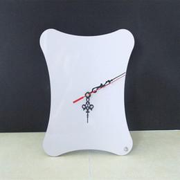 relógios de mesa de cerâmica Desconto Sublimação em branco MDF Relógio de mesa Relógio de parede com foto ou desenho personalizado ou cabeça de impressão retrato por impressão de transferência hermal