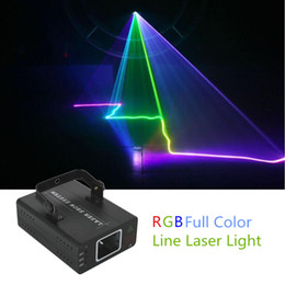 Proiettore mini show a casa online-Freeshipping Mini RGB Full Color Color Laser Projector Light DMX Master-Slave DJ Party Home Show Professional Stage Lighting Flash