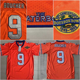 Spirited Bobby Boucher #9 The Waterboy Football Jersey Adam Sandler Orange All Stitched Fan Apparel & Souvenirs Football-other