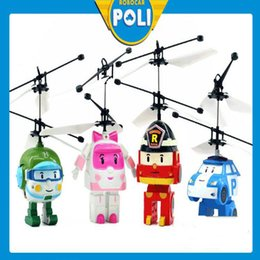 Wholesale Flying Rc Toys - Infrared sensors RC helicopters RC Infrared Induction flying toys induction vehicle with LED lights suspending flying toys kids toys