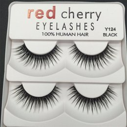 Wholesale Big False Eye Lashes - Red Cherry 3D False eyelashes 5 pairs pack 8 Styles Natural Long Professional makeup Big eyes High Quality 3001224