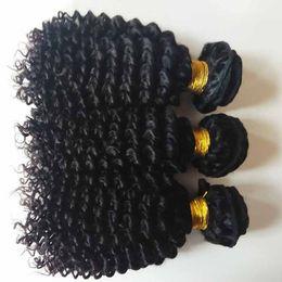 Melhor extensão de cabelo remy encaracolado on-line-Cabelo humano brasileiro peruano melhor qualidade 8-26 polegada Kinky Curly cabelo trama 7A grau preço de fábrica barato Mongol indiano remy Extensão do cabelo
