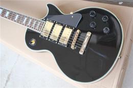 Chitarra elettrica LP personalizzata corpo a tre pezzi in oro nero da mouse elettrico fornitori