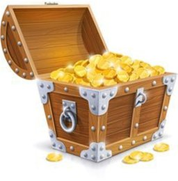 Monete d'oro del giocattolo online-Plastica Oro Treasure Monete Treasure Coins Captain Pirate 50 Pz / lotto Favori di Partito Pretend Chest Kids Party Toy 7ZHH204