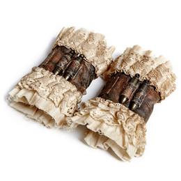 Canada Steampunk Vintage Coffee Gloves pour les femmes Gothique Mode Gants Poignet Court Vêtements Accessoires Offre