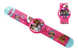 Argentina NUEVA caricatura LOL reloj de muñeca moda chica Electrónica calendario tiempo relojes de pulsera niños niños Joyería 30 unids cheap doll fashions Suministro