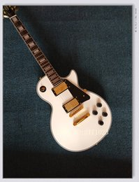 Wholesale Custom Alpine Guitar - 2017 custom shop Alpine white ebony electric guitar gold hardware in stock