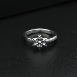 Asiatische antiquitäten geben verschiffen frei online-925 Sterling Silber Vintage Schmuck Antik Silber Marke amerikanische handgemachte Designer Sterne Ringe für Frauen Freies Verschiffen