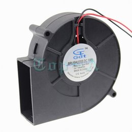 Wholesale Fan Motor Bearings - LOT 5 Pcs Gdstime 9733 Ball Bearing DC Blower Fan 12V 2 Pin 2 wire 97mm 97x33mm 9cm Ventilation Axial Motor Cooling Cooler
