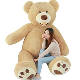2019 ti nuovi grandi occhi Huge Size 200cm USA Giant Bear Skin Teddy Bear Hull , Super Quality ,Wholesale Price Selling Toys For Girls