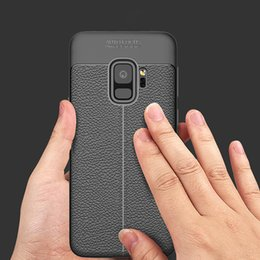 Wholesale Galaxy Note Leather Pouch - for samsung galaxy s9 case luxury leather silicone soft back cover for samsung s9 s8 plus note 8 tpu cases