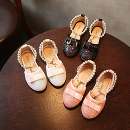 Wholesale Leather Shoes For Toddlers - toddler shoes kids sandals summer loafers baby kids leather shoes children princess shoes for girls ballet party dance loafers summer