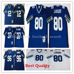 Wholesale Cheap American Football Shirts - NCAA Throwback Steve Largent Jerseys American football college shirts mens retro shaun alexander cortez kennedy fan color cheap order size