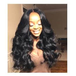 pelucas de moda new wave Rebajas Nuevas mujeres de la manera de la llegada aman el pelo brasileño Afro Ameri onda suelta Simulación cabello humano larga onda suelta peluca para dama