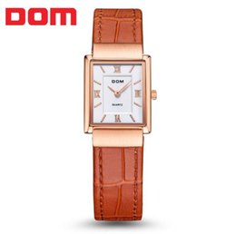 Wholesale Tungsten Watches For Men - Women's Watches brand luxury waterproof quartz leather gold watch men Square watches reloj clock Wrist Watch for Men G-1089