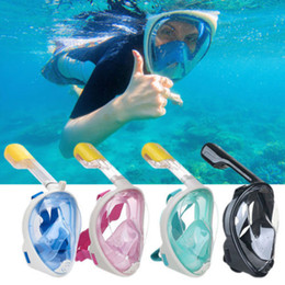 Wholesale mask for underwater - Underwater Diving Mask Snorkel Set Swimming Training Scuba mergulho full face snorkeling mask AntiFog With earplug SJ4000 gopro camera stand