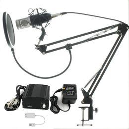 Microfone vocal on-line-Conjunto Completo Microfone Condensador BM800 Profissional KTV Microfone Pro Estúdio de Áudio Vocal Gravação Mic + Choque De Montagem De Metal
