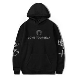Wholesale Pink Interest - BTS LOVE YOURSELF Hooded Men Hoodies Sweatshirts Interesting Winter Hoodies Fashion trend k-pop Casual 4XL funny Couple Clothes