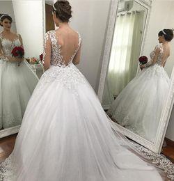 9aea4740da76 abiti da sposa in cerimonia nuziale sequin Sconti Principessa Ball Gown 2018  Pizzo Abiti da sposa