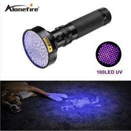 La lumière ultraviolette en aluminium en aluminium de Shell d'Alonefire 18w pour l'anti-imitation Uv 100 a mené le détecteur d'argent de lampe-torche 100led ? partir de fabricateur