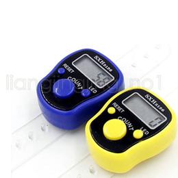 счетчики счетчиков Скидка 5-значный номер пальца счетчик мини цифровой ЖК-электронный палец руки кольцо Tally счетчик для гольфа многоцветный Спорт DDA648