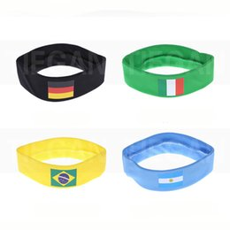 Wholesale nationals band - National Flag Headband For 2018 Would Cup Soccer Fans Ribbon Hair Band For Yoga Fitness Party Festival Decoration Supplies HH7-979