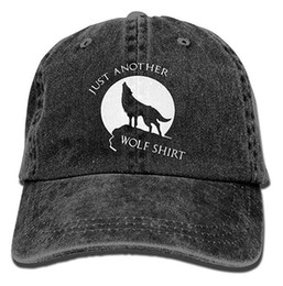 just hats Coupons - Just Another Wolf Shirt Adult Cowboy Hat Baseball Cap Adjustable Athletic Customizable New Hat for Men and Women