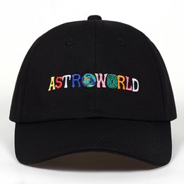 06f296697e75b letter caps Coupons - 100% Cotton ASTROWORLD Baseball Caps Travis Scott  Unisex Astroworld Dad Hat