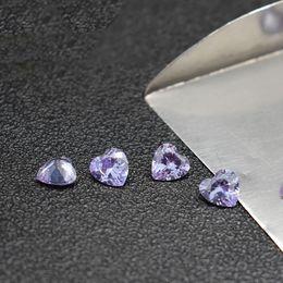 2019 joyas en forma de corazón de piedras Directo de Fábrica en Forma de Corazón 3-8mm Lavanda Zirconia Cúbica Corte de Máquina Piedras Sintéticas Sueltas Para La Joyería CZ Setting 500 unids / lote Envío Gratis joyas en forma de corazón de piedras baratos