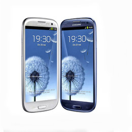 Wholesale galaxy s3 blue - Original Refurbished Unlocked Samsung Galaxy S3 I9305 i9300 8GB 16GB 3G WCDMA Mobilephone Quad Core 4.8 inch 8MP Camera WiFi GPS SmartPhone