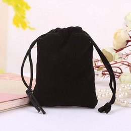 "Wholesale Packaging Shoe Bags Drawstring - Black Velvet Gift Bags 30x40cm (12""x16"") Shoe Socks Bra Underwear Travel Storage Organizer Packaging Drawstring Pouch"