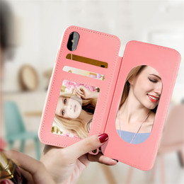 Wholesale Making Lanyard - soft tpu plastic covers cases for samsung for iphone protective cases with make-up mirror lanyard phone cell shell cover skin