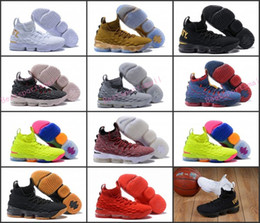Wholesale Ash Brand - 2018 New James XV 15 LBJs BHM Ashes Ghosts Equality Diamond Turf New Heights Basketball Mens Designer Brand Shoes Trainers Sneakers