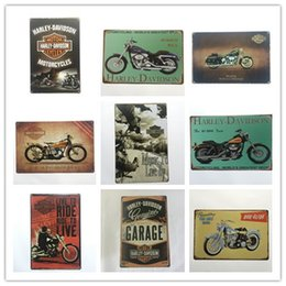 Wholesale Home Sale Signs - Hot sale retro harley Davidson Cycles Vintage tin sign home Bar Pub Hotel Restaurant Coffee Shop home Decorative Retro Metal Poster