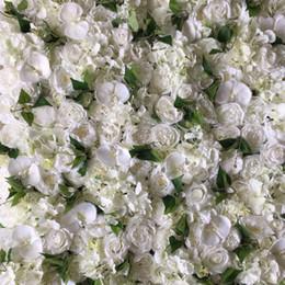 Artificielle Fleur Mur Et Faux Fleur Coureur Avec Rose Orchidées De Hortensia Feuilles De Mariage Décorations Fond De Mariage ? partir de fabricateur