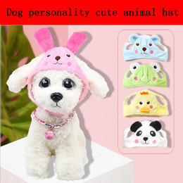 Wholesale pet dog caps - New pet hat dog dog zoo hat Teddy pet dog cap personality cute hat rabbit, chicken, giant panda frog, bear cartoon