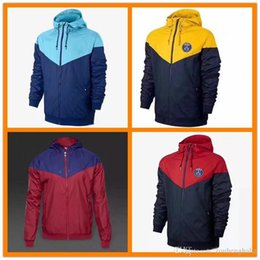 Wholesale America Mexico - 2018 New zipper windbreaker Mexico America team long sleeve jacket coat 17 winter sports Messi windbreaker 18 Neymar hoodie plus