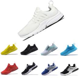 Wholesale breathe lighting - 2018 Presto 5 BR QS Breathe Black White Yellow Red Men Women Running Shoes Prestos Sports Shoe air sole Walking Mens designer Sneakers