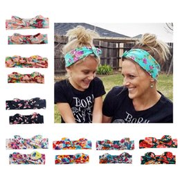 mom band Coupons - HOT Sale! Mom and Me Boho Turban Headband Top Knotted Elastic Bowknot Rabbit Ears Matching Headband Newborn and Mommy Hair Band
