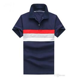 Wholesale Blue Golf Tees - 2018 Brand Mens POLO Shirt comfortable fit Man lapel T shirt Patchwork Mesh cotton Golf sport Jersery tee For Men 0123