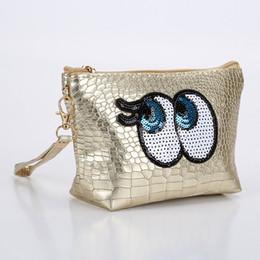 2019 набор для изготовления сумочек Travel Cosmetic Bag Cartoon Cute Eyes Makeup Case Women Zipper Make Up Handbag Organizer Storage Pouch Toiletry Wash Kit Bags скидка набор для изготовления сумочек