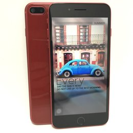 Wholesale smartphone inch bluetooth - Red Color Goophone i8 plus Green Tag Sealed Quad Core MTK6580 Android 6.0 1GB 8GB 5.5 Inch 1280*720 HD 8MP 3G WCDMA Unlocked Smartphone