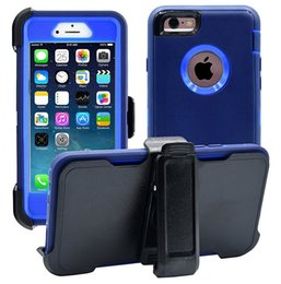 Wholesale water defender - Robot Armor Case Hybrid Defender Case For iPhone X 7 8 Plus Note 8 S8 S9 Plus Come With Clip Holster Retail Packaging